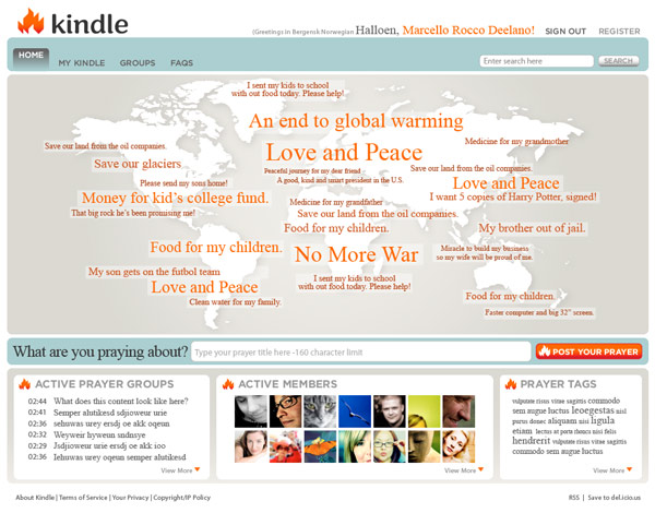 Kindle Home Page